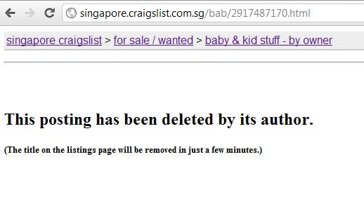 Singapore craigslist com