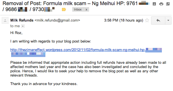 milk refunds