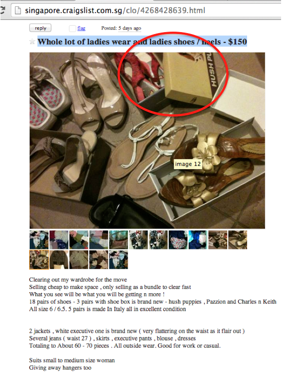 lei ziman looi picard 96420559 fake red shoes scam